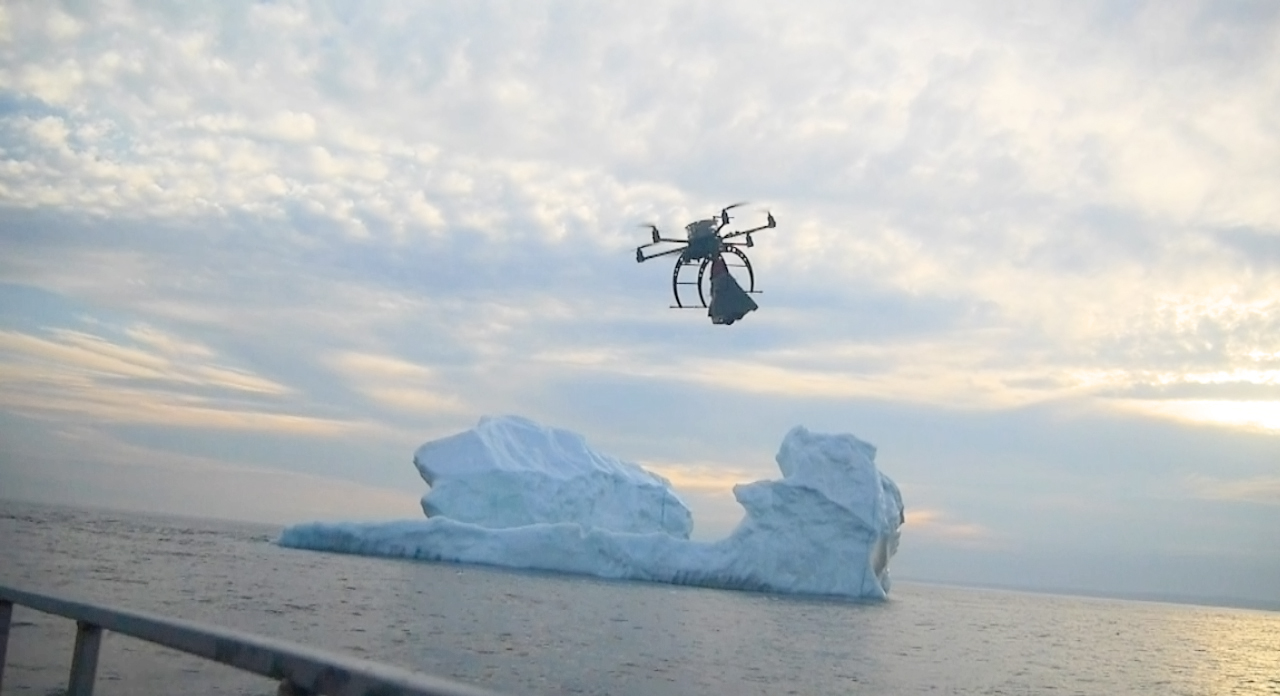 Drone deployments from ships for iceberg monitoring and extent mapping in St. Johns Newfoundland