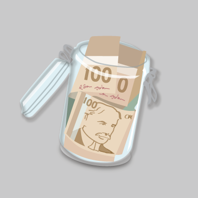 Illustration of a money jar